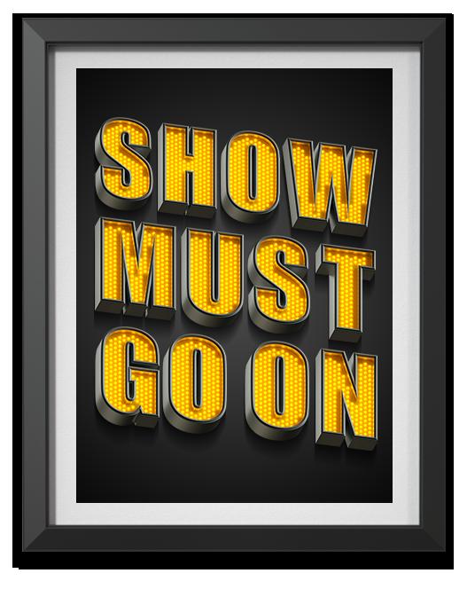 YellowLED font handmade