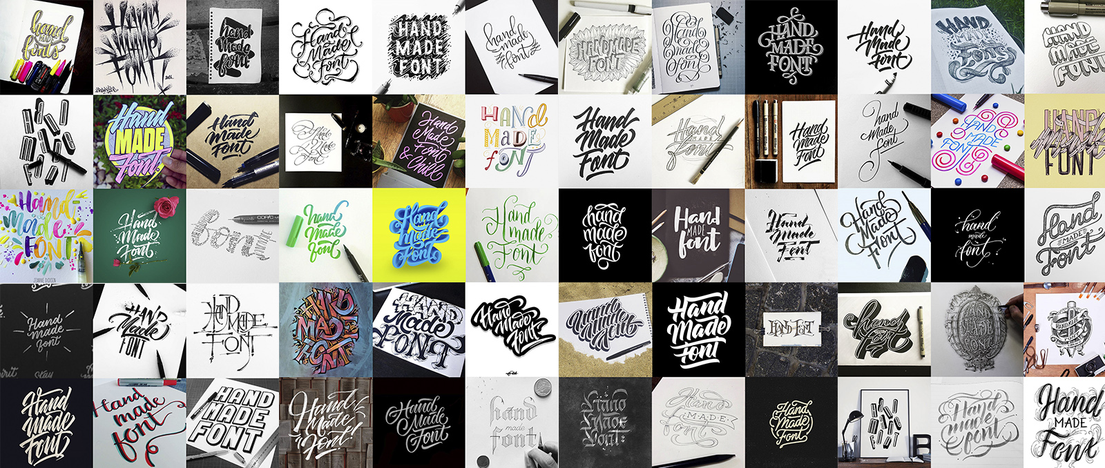 Handmadefont logos