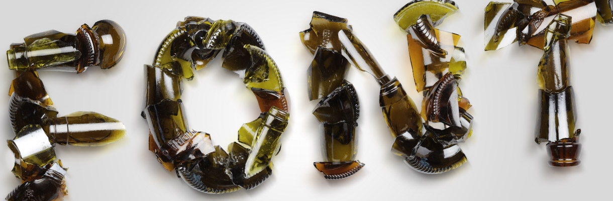 Broken Bottles Typeface by hand