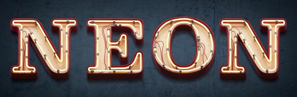 Neon Font.