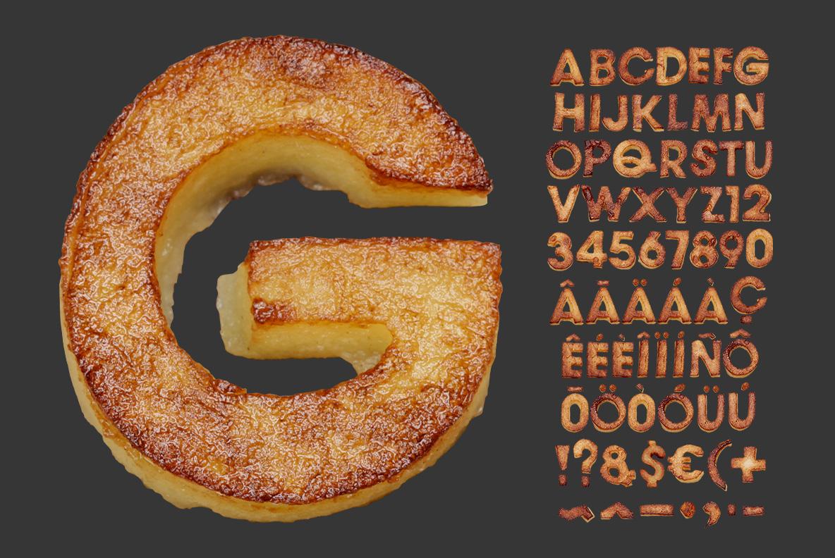 Fried Potatoes Font OpenType Alphabet
