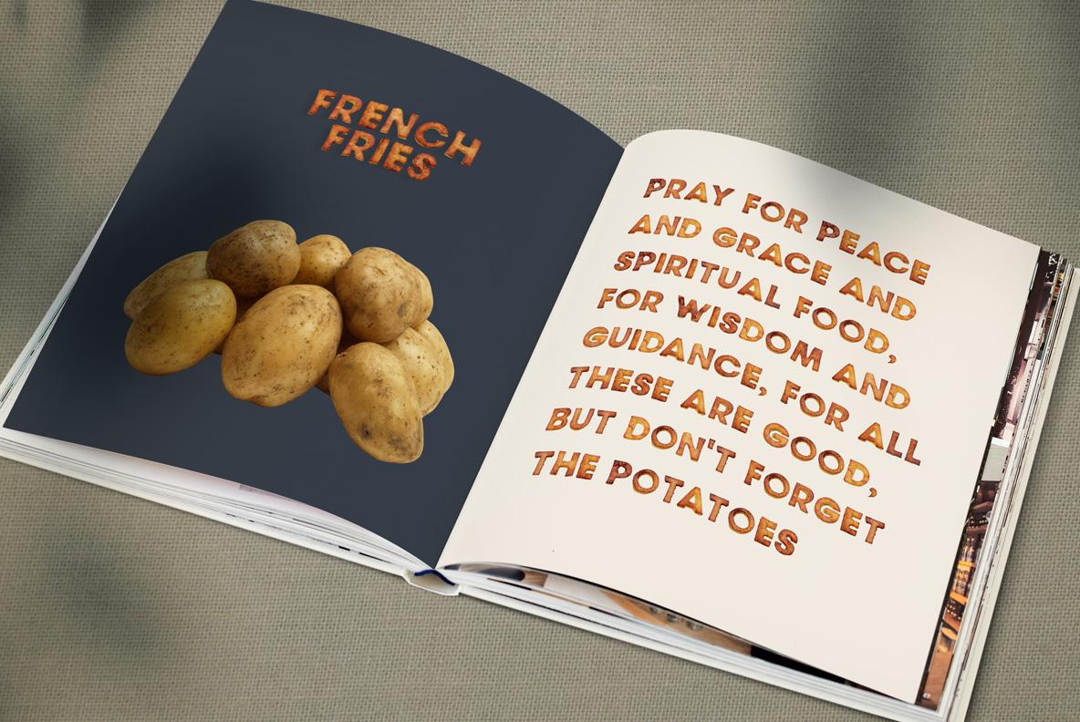 Fried Potatoes Font OpenType SVG