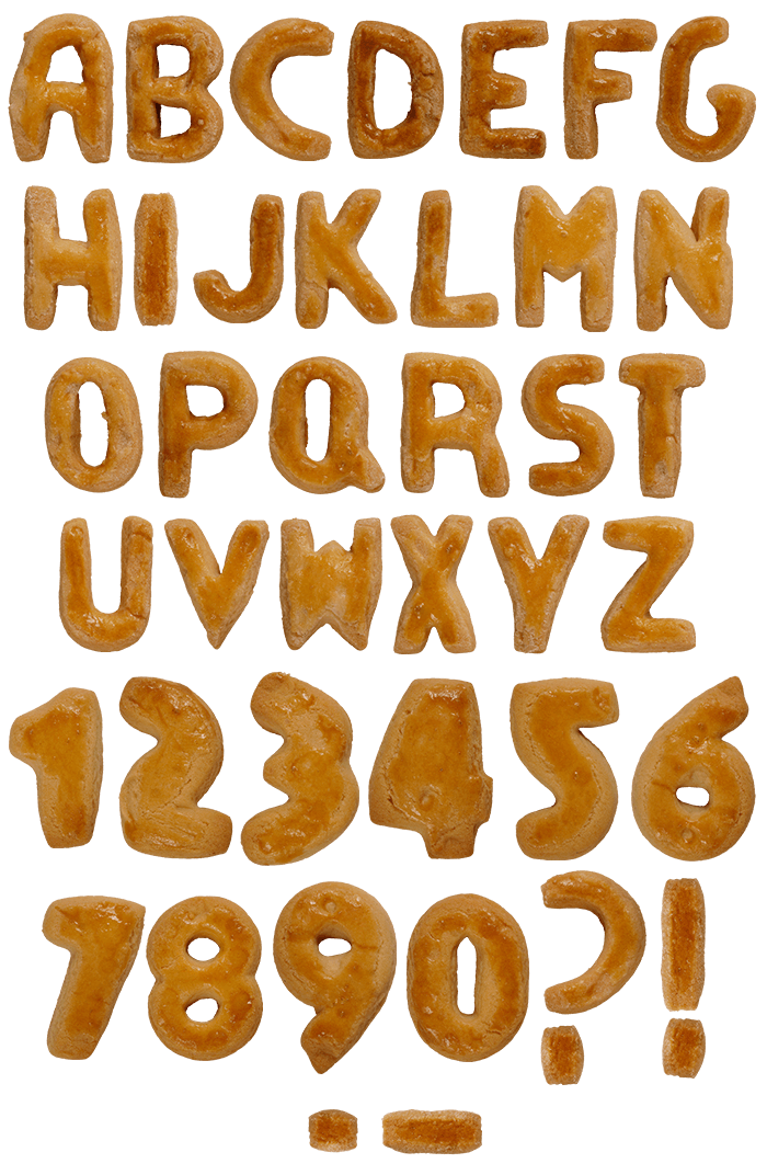 Biscuits food Font