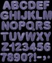 Black Embroidery handmade Font
