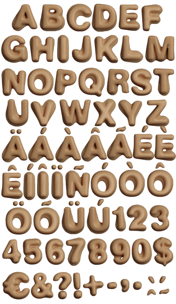 Wax plastilina Font