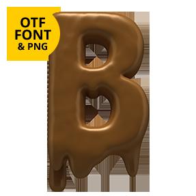 Choco Font Letter B. OpenType font SVG