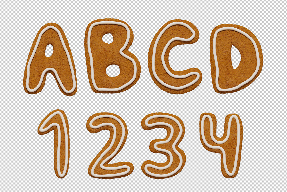 Christmas Cookies Font OpenType SVG photoshop preview