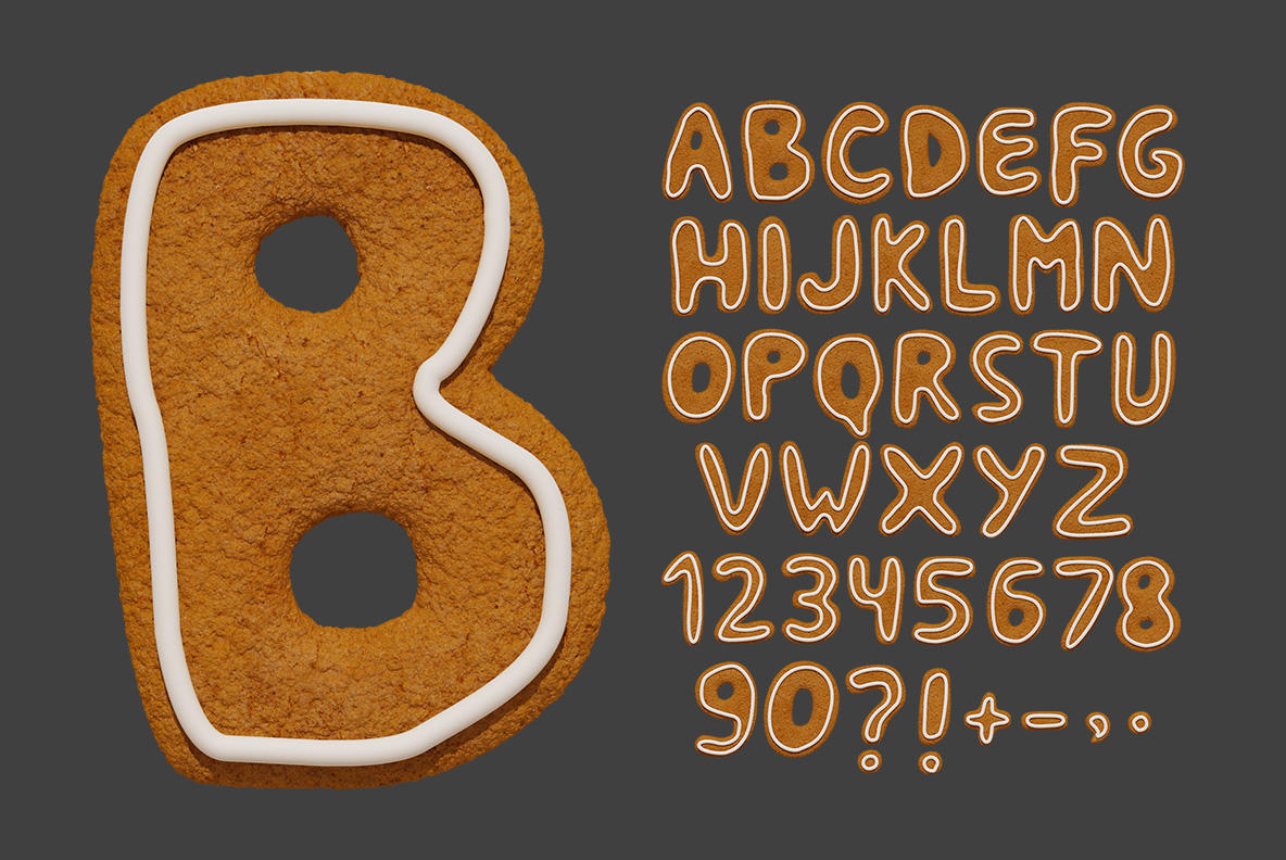 Christmas Cookies Font OpenType SVG