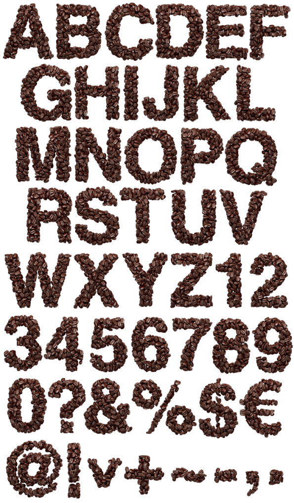 Coffee Beans latte Font