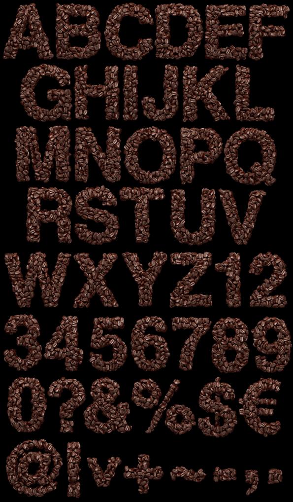 Coffee Beans latte Font