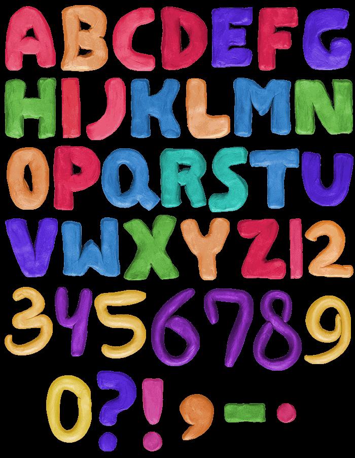 Color Plastilina funny Font