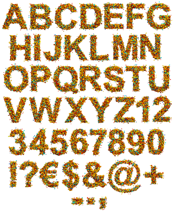 Color Tinsel bright Font