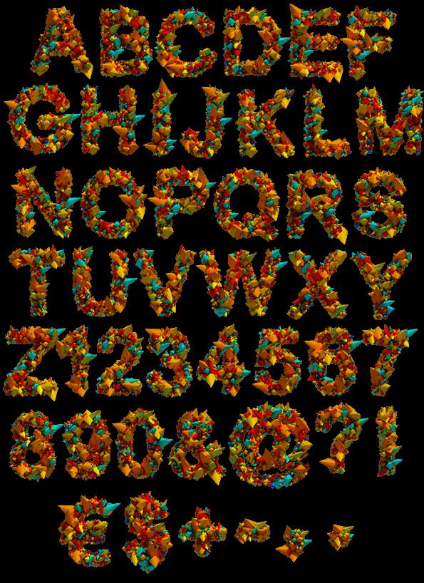Color Explode funny Font