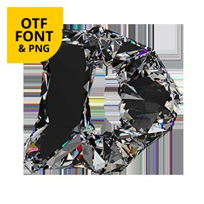 Diamo Font Letter D OpenType
