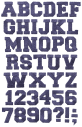 Embroidery material Font