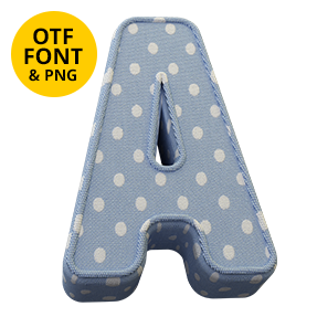 Preview of the Fun Textile Font.