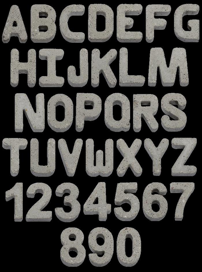 Gray Concrete rock Font