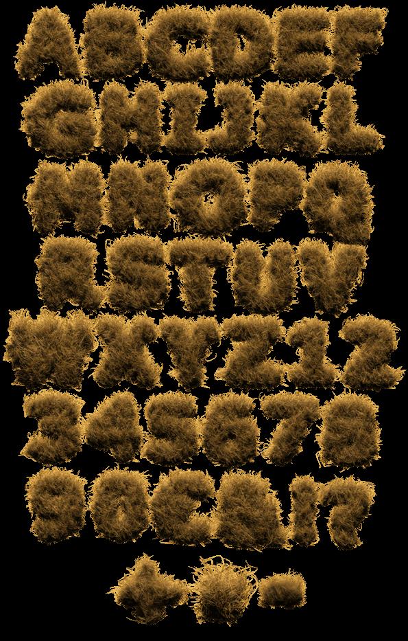 Hay Fur soft Font