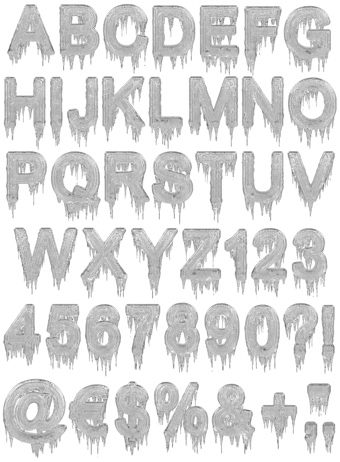 Icicle winter Font