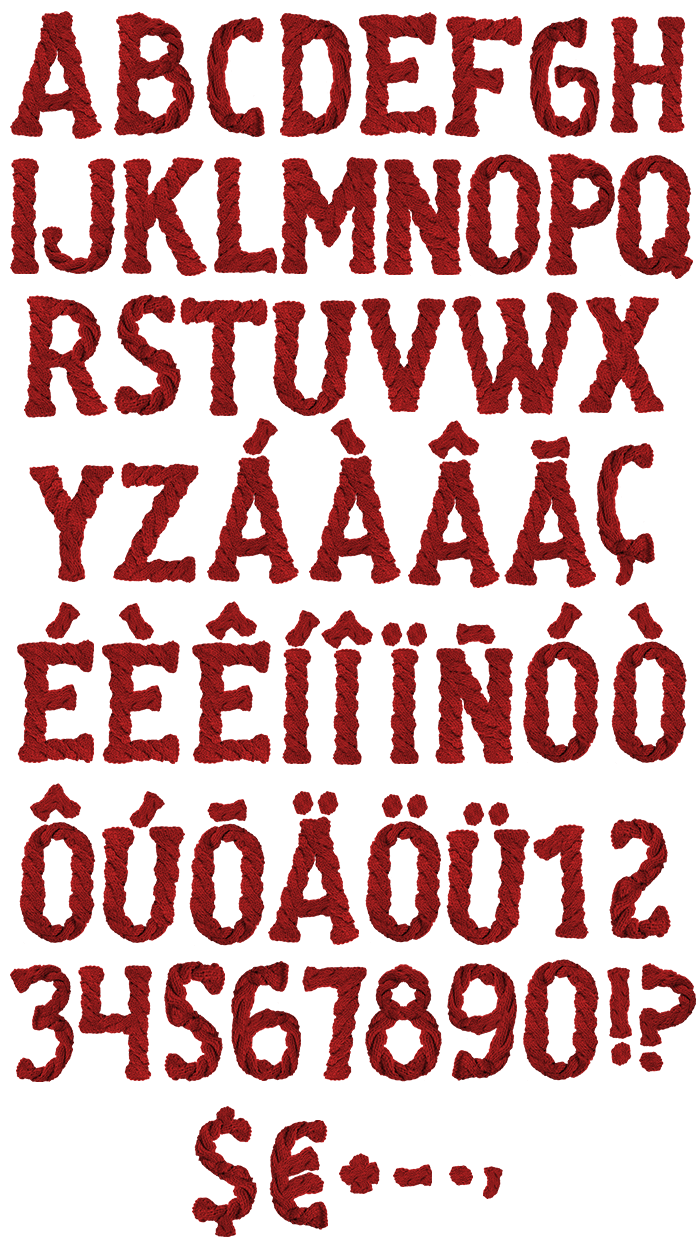 Knitted warm Font