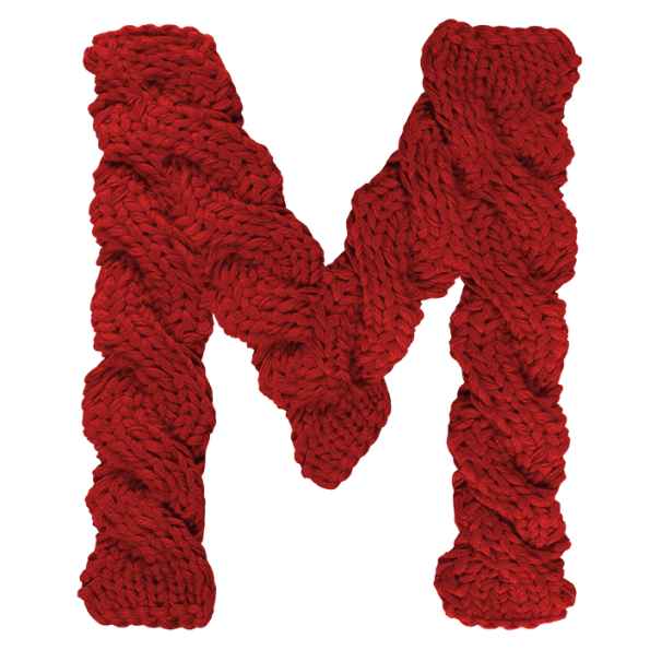 Knitted Font