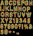 Lego Random Color plastic Font