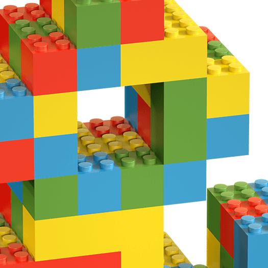 Lego Random Color handmade Font