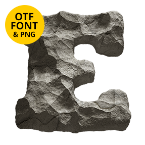Rock Font. Stone OpenType Typeface Made By Handmade Font