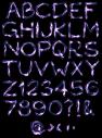 Light Neon handmade Font