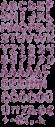 Lilac purple Font