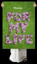 Lilac grass Font