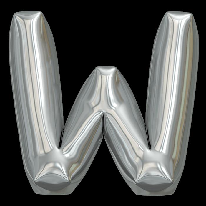 Metallic Balloon Font