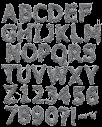 Metallic Web silver Font