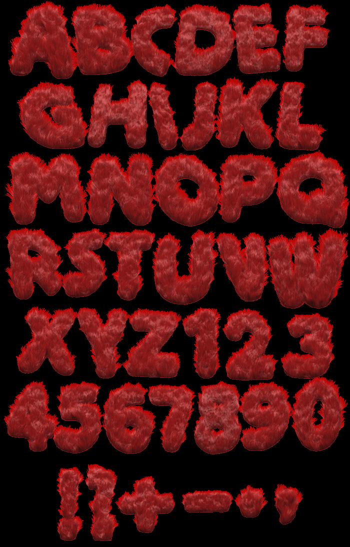 Monster Hair red Font