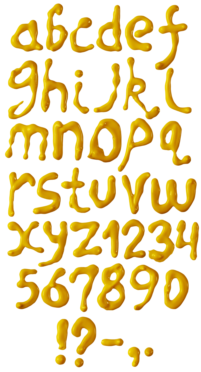 Oil Yellow funny Font