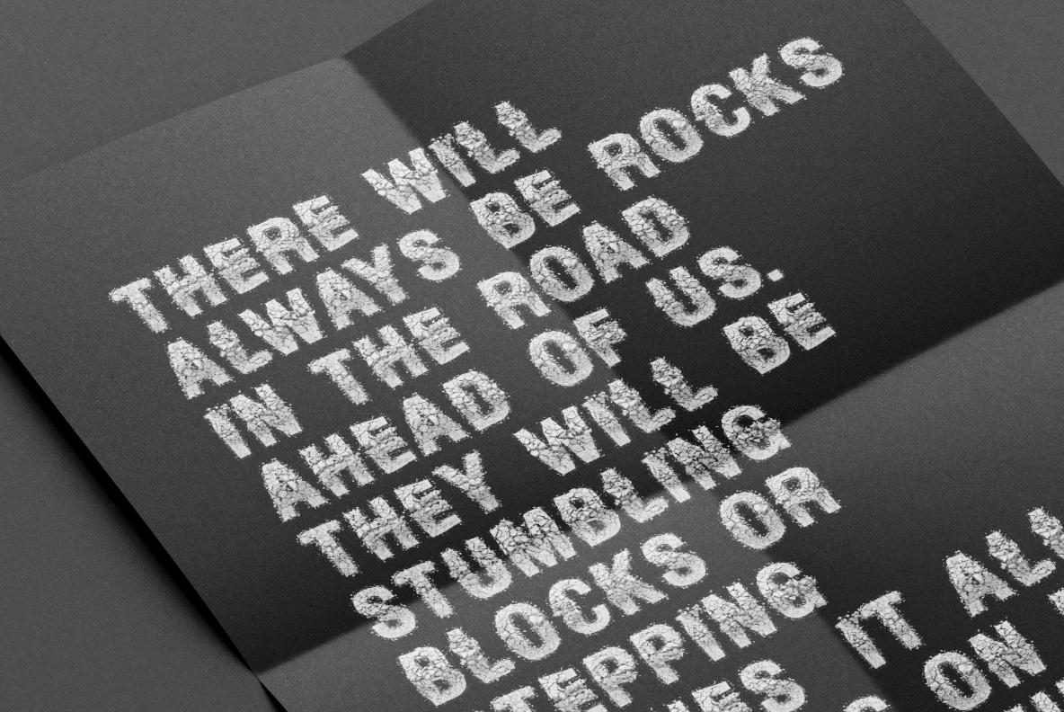Particle Rock Font SVG