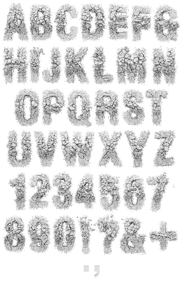 Particle Rock white Font