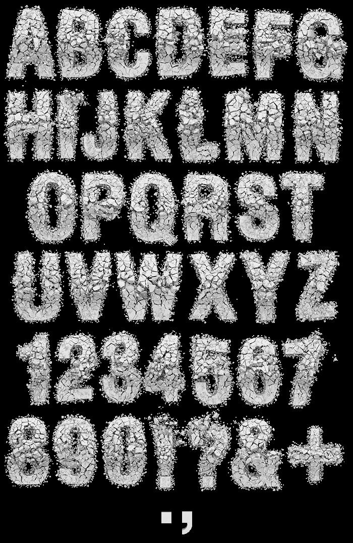 Particle Rock white Font