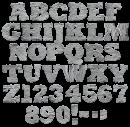 Plaster texture Font
