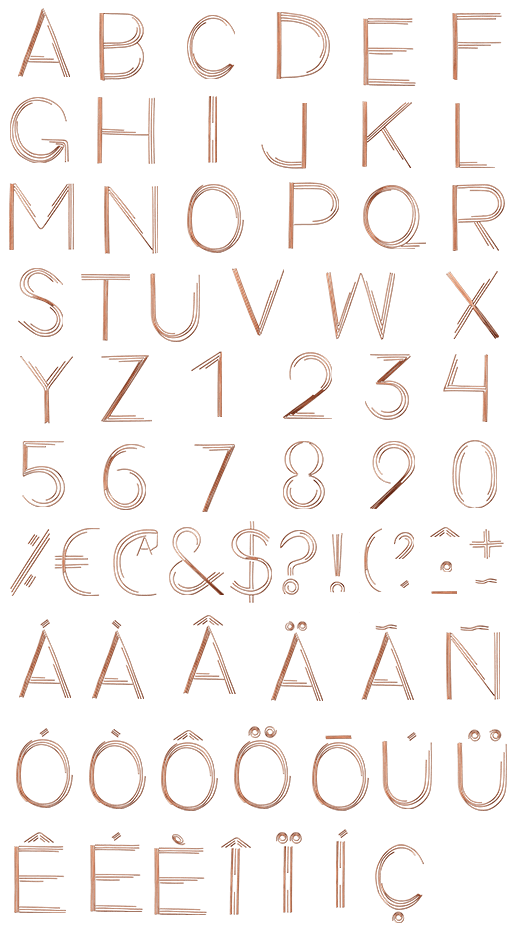 Retro Copper Wire traffic Font
