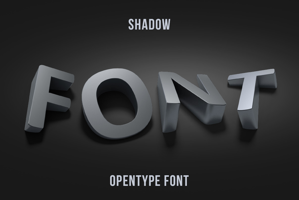 Cover of the Shadow Font OpenType Typeface Made By Handmade Font