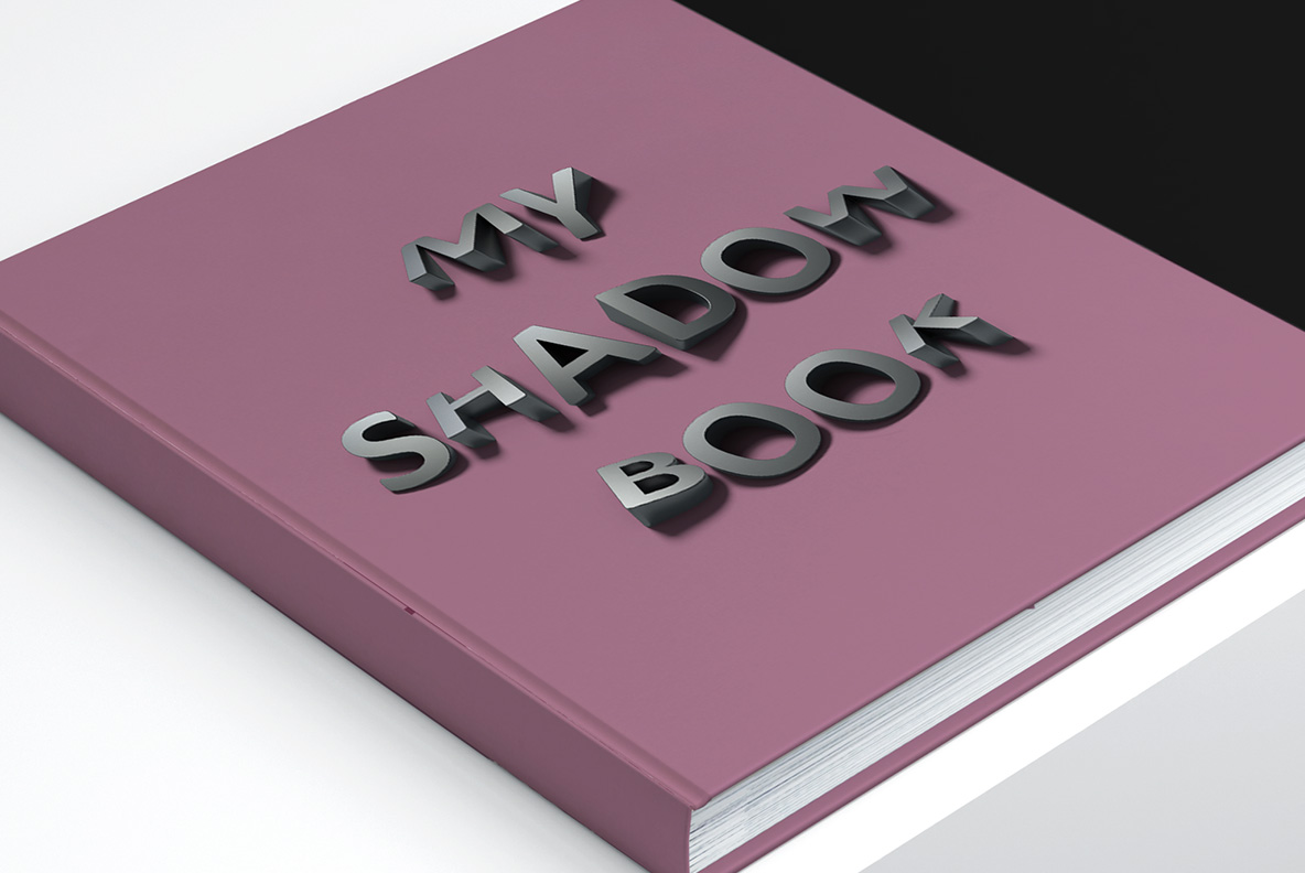 Book cover with Shadow Font OpenType Typeface Made By Handmade Font
