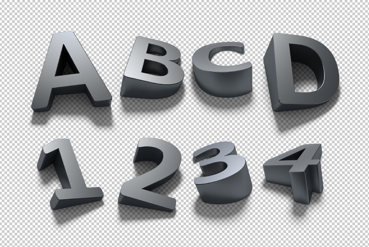 Photoshop test of the Shadow Font OpenType Typeface Made By Handmade Font