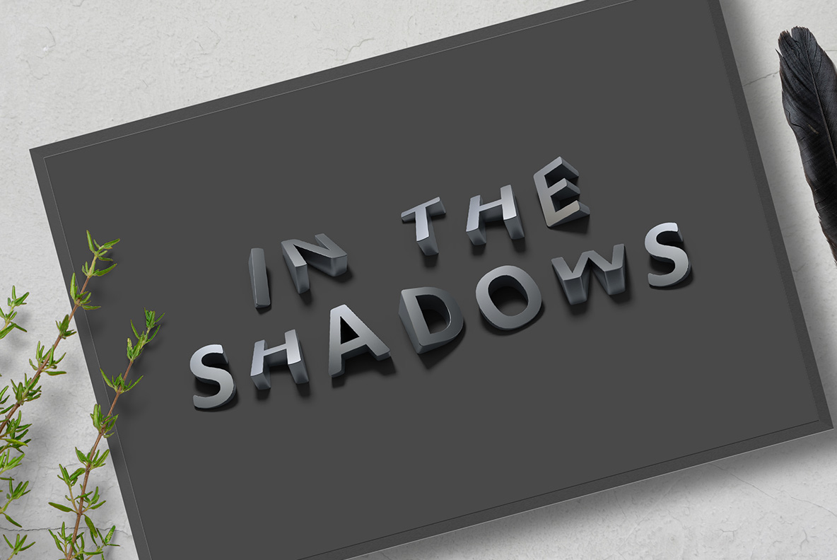 Poster with Shadow Font OpenType Typeface Made By Handmade Font