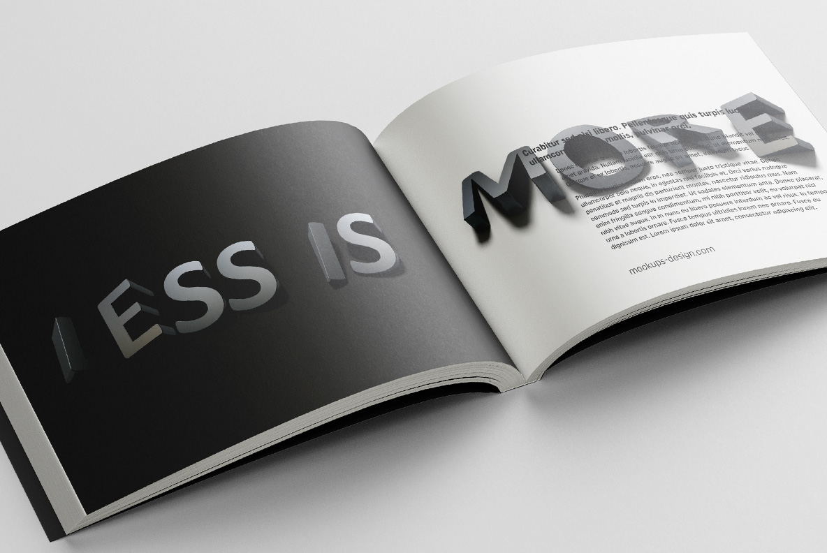 Opened catalogue with Shadow Font OpenType Typeface Made By Handmade Font