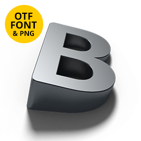 Shadow Font Letter B