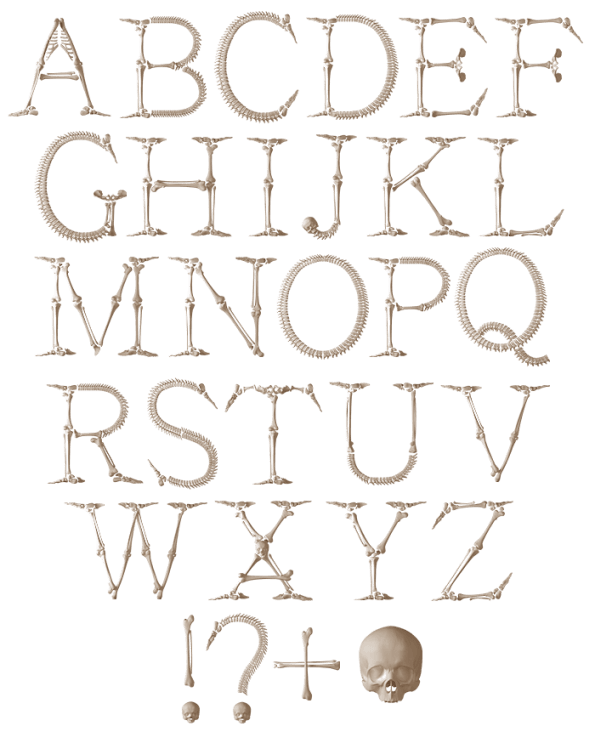 Skeleton handmade Font