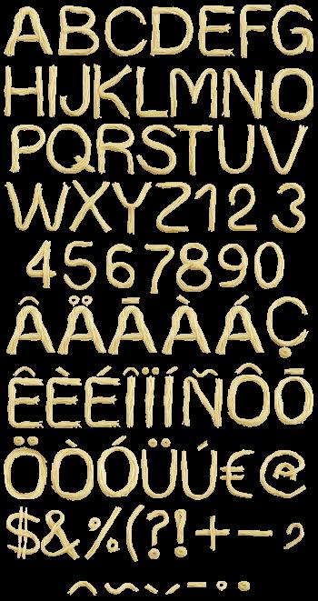 Ice Cream Font Handmadefont