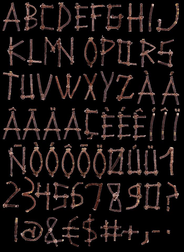 Sticks wood Font