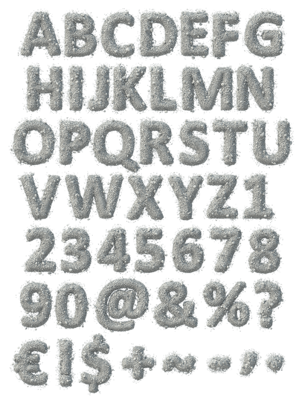 Stone Dust gray Font